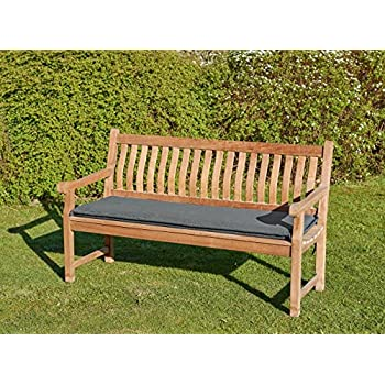 Amazon.de: Bankpolster Destiny 170 cm * ANTHRAZIT * Kissen Auflage ...