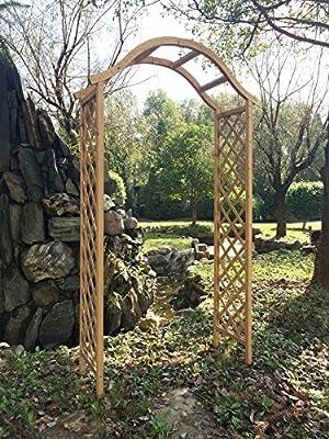 Marko Gardening Garten Arch Holz Pergola Feature-Gitter Rose Torbogen Natürliche Bräune Holz Holz von Marko - Du und dein Garten
