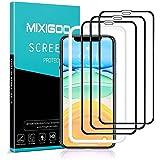 mixigoo 3 Stück Full Screen Schutzfolie für iPhone 11/iPhone XR, 9H Härte Panzerglasfolie mit Positionierhilfe Anti-Bläschen