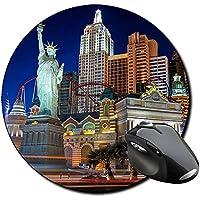 Nueva York New York NY Hotel Casino Tappetino Per Mouse Tondo Round Mousepad PC