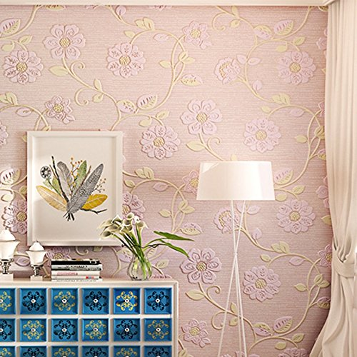 Zhzhco Selbstklebende Tapete Selbstklebende-Tuch Continental Pastorale 3D-Geprägte Tapeten Wohnzimmer Schlafzimmer Tv Hintergrund An Der Wand Papier 10M*0.53M