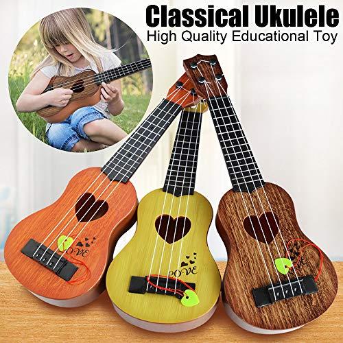 zeug Musikinstrument Kinder Holzspielzeug robuste Ukulele ungiftig Musikinstrument Vorschulmusik 11.5x36.5cm (A1) ()