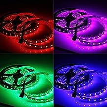 PUAO 72V DC RGB LED tira de luz, 300 unidades SMD 5050 LED, no
