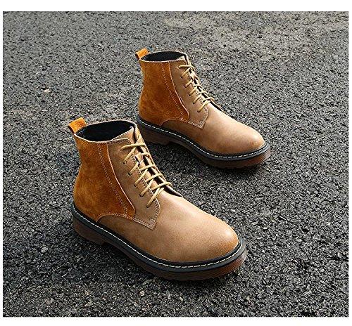 &zhou femelle Martin bottes automne et bottes d'hiver mode plat - à fond des bottes soil yellow