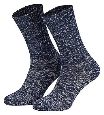 Tobeni 5 Paar Original Jeans-Socken in 100 Baumwolle Socken für Damen und Herren