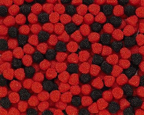 Haribo Berries, basse 3kg Pack, caoutchouc-Babyours-Vin en caoutchouc, Fruit caoutchouc en sachet,