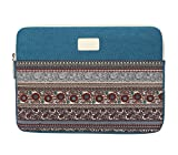 Bohemian Canvas Sleeve Case Bag for 14 inch Notebook / Ultrabook,Lake Blue