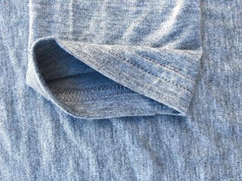 Jusfitsu -  Maglia a manica lunga  - Basic - Collo a V  - Maniche lunghe  - Donna Grigio
