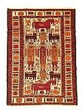 Kelim Teppich Afghan Maliki Sumak 129 x 93 cm