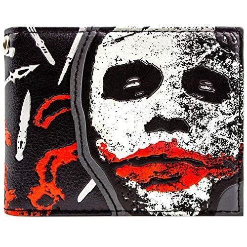 DC Dark Knight Joker Pourquoi si sérieux Noir Portefeuille