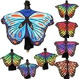 Kangrunmy Weiche Stoff Schmetterling Flügel Schal Fairy Damen Nymphe Pixie Kostüm Zubehör Badetuch