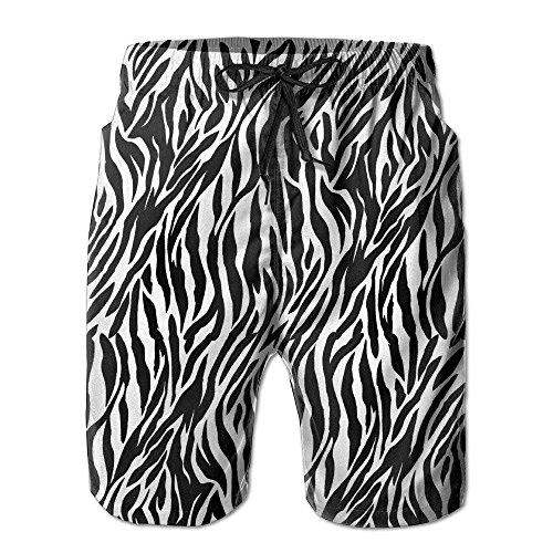Jhonangel Die Badehose der Zebra-Beschaffenheits-Männer trocknen schnell beiläufige Badestrand-Mens-Kurzschlüsse mit Taschen-Hosen XL