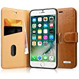 Labato Handytasche iPhone 7 Case aus Echt Leder Hülle für