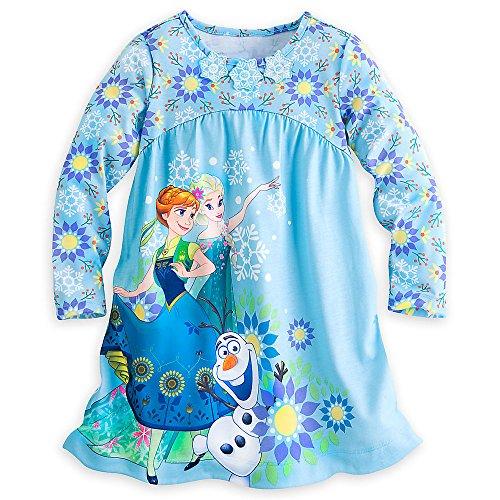 Disney Store Gefrorene ELSA Anna Langarm Nachthemd Klein 5-6 5T 2016 (Anna Gefrorene Schuhe)