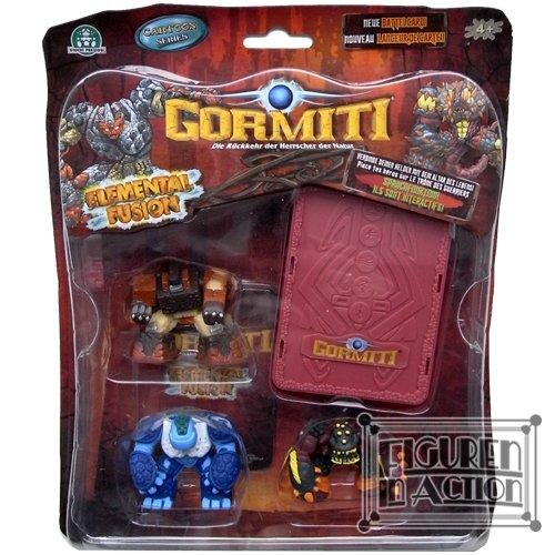 Gormiti Elemental Fusion: Marmacciaio, Liuk and Marton Figures