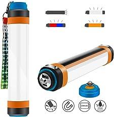 VOIMAKAS Campinglampe USB Taschenlampe Wiederaufladbare mit 5200 mAh Batterie als Powerbank, IP68 Wasserdichte Outdoor Latern 350 Lumen Tragbare Lampe SOS Licht mit 6 Leuchtmodi und Mächtiger Magnete für Camping, Wandern, Notfallrettung, Stromausfall