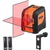 Tacklife SC-L01 Classique Niveau Laser Croix 15m /Laser Horizontal et Verticale/Grand Angle de 110°/Verrouillable/Laser Rouge et Brillant/Support Magnétique Rectangulaire