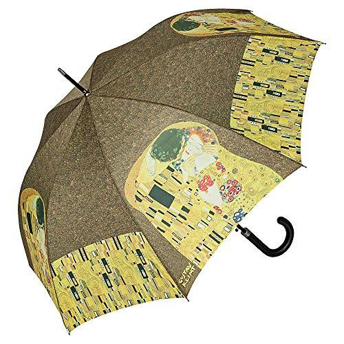 VON LILIENFELD Regenschirm Automatik Damen Herren Kunst Motiv Gustav Klimt: Der Kuss (Regenschirm Gustav Klimt)
