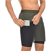 EDOTON Pantaloncini da Running da Uomo, 2 in 1 Pantaloncini da Corsa con Tasca Interna Incorporata, Asciugatura Rapida…