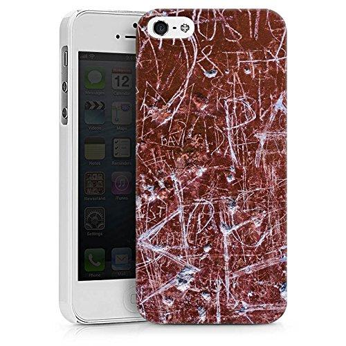 Apple iPhone X Silikon Hülle Case Schutzhülle Rost Kratzer Muster Hard Case weiß
