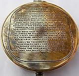Vintage antike Robert Frost Gedicht Gravierte Compass.C-3142