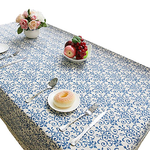 NiSeng Manteles Mesa Rectangular Vintage Mantel Antimanchas para Hosteleria, Jardin, Exterior, Cocina,...