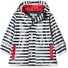 Playshoes Girl's Regenjacke Maritim Raincoat, Blue (marine/White 171), 104