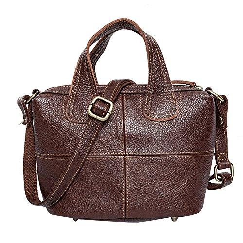 WTUS Damen Leder Wilden Umhängetasche Europäischen und Amerikanischen Mode Handtaschen Braun