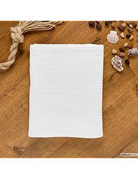 Nido d'ape telo doccia 100x150 - Bianco