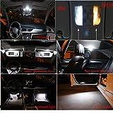 Muchkey Set di 18 lampadine a LED Canbus 3W 12V, senza errori, per luci targa, luci di cortesia, luci delle portiere, luce bianca allo xeno, per A4 S4 B6 B7 Berlina Avant dal 2002 al 2008