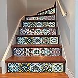 3D Treppen Aufkleber Kreative Mittelmeer Stil Treppe Korridor Dekoration 6 Stücke