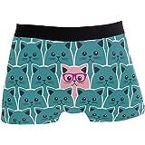 Slip da Uomo Boxer Diversi Cat Underwear da Uomo Tronchi Elasticizzati Traspiranti Bulge Pouch Soft Underpants