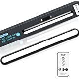 FERSWE 5W Lampe de placard Télécommandée, Commande tactile, Magnétique Stick-on, Rechargeable, Dimmable, pour Miroir de Maqui