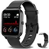 "NAIXUES Smartwatch, Reloj Inteligente Impermeable IP67 Reloj Deportivo 1.4"" Pantalla Táctil Completa con Pulsómetro, Monitor"