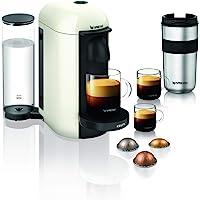 Nespresso Krups Machine Expresso Vertuo Plus Blanc, Machine à Café, Cafetière Expresso, 5 Tailles de Tasses, 1,2L…