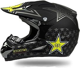 Erwachsenen Motorrad Geländewagen spezialisiert für Heren Damen Sicherheit Schutz,mit Handschuhe und schutzbrille (M, Style 8)
