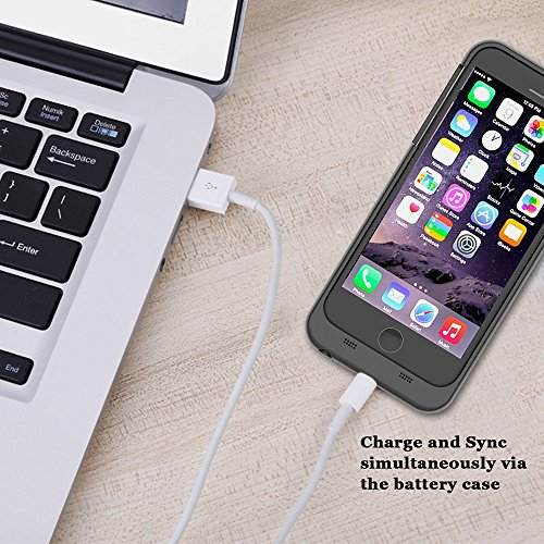 CaseforYou Batteriefach Hülle iPhone 7 Taschen Schalen Akkus 3200mAh Portable Charging Case External Battery Backup Charger Power Bank Protective Cover Batteria Schützend Batterie-Schutz für iPhone 7  golden
