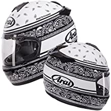 2016 Arai Chaser de v Listón Negro/Blanco Casco de Moto