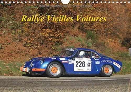 Rallye vieilles voitures : Rallye voitures des années 80. Calendrier mural A4 horizontal