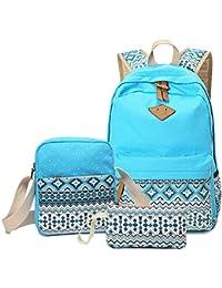 Mochilas Escolares Lona Mujer Mochila Escolar Bolsa Casual Para Backpack Chicas Bolsa De Hombro Mensajero Billetera