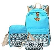 Polka Dot Dames Sac à Dos Voyage Sacs à bandoulière Style Casual Sac à bandoulière léger Daypack Bleu ciel
