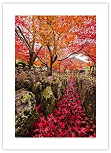 Sharad Haksar 'March of the Maple Leaves, Japan' (36 x 28 Inches, Paper)