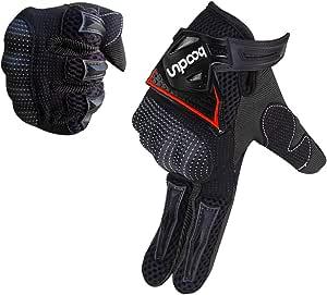 Artop Motorrad Handschuh Herren Touchscreen Motorradhandschuhe Sommer Motorcross Cross Handschuhe Männer Alle Jahreszeiten Schwarz Xl Auto