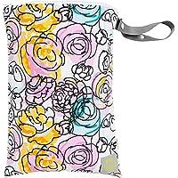 Itzy Ritzy Travel Happens Wet Bag with Handle, Medium, Watercolor Bloom