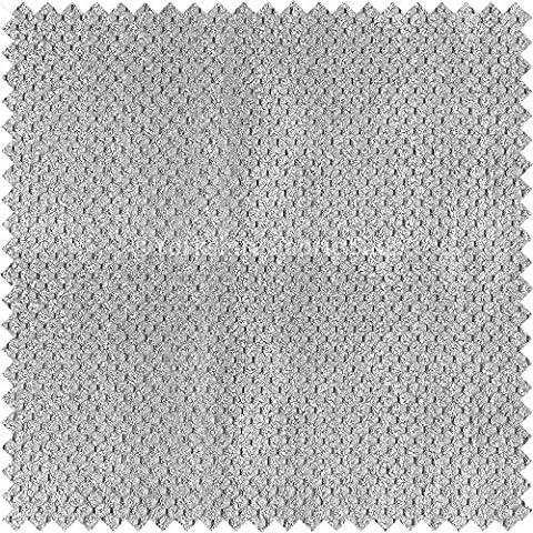 Tejido suave aterciopelado para tapizar (ideal para sillas, sofás, cortinas o cojines), diseño con efecto de lunares, color