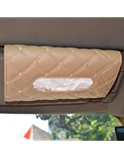 Autofurnish 7D Car Sun Visor Tissue Holder Box with Free Tissues(Beige)