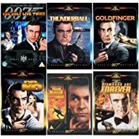 The Complete Sean Connery James Bond DVD Movie Collection: Dr No / From Russia With Love / Goldfinger / Thunderball / You Only Live Twice / Diamonds Are Forever