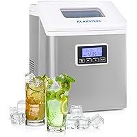 Klarstein LCD Clearcube - Machine à glaçons, 15-20 kg/24h, Glace transparente, Ecran LCD lisible, 3 tailles différentes…