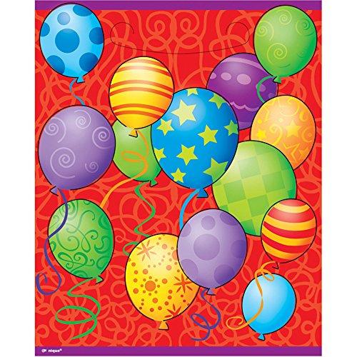 Unique Party Supplies Geburtstag Luftballons Partytüten, 8Stück