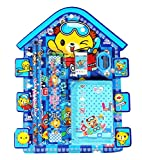 #7: GTC School Stationery Kit For Kids (Pencil ,Sharpner ,Rubber , Scale , Wallet) ITN019 (Pack Of 1, Blue)